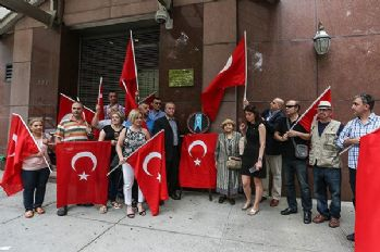 New York'ta Çin protestosu