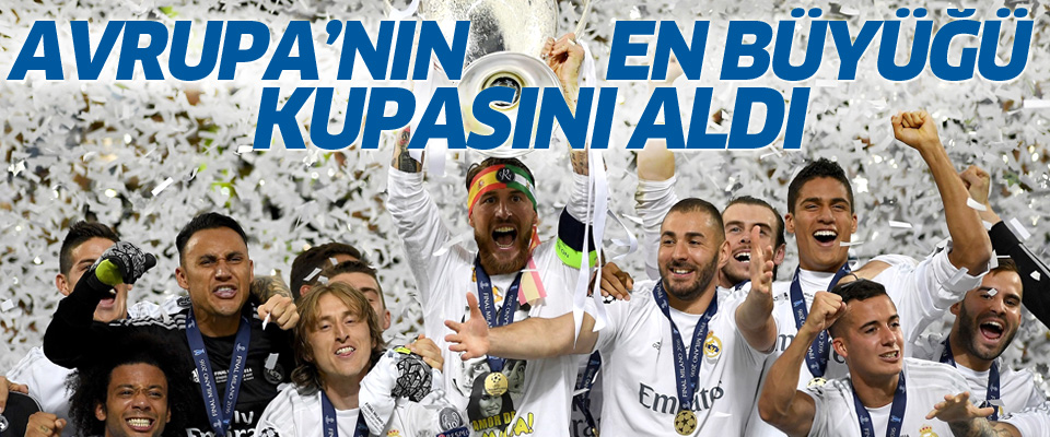 UEFA Şampiyonlar Ligi'nde kupa Real Madrid'in
